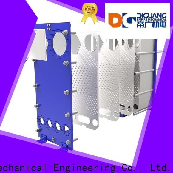 Top plate and frame heat exchanger sizing Supply for transferring heat