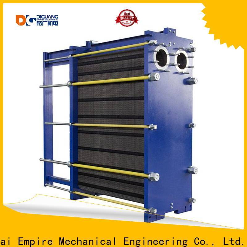 Top stacked plate heat exchanger Supply for transferring heat